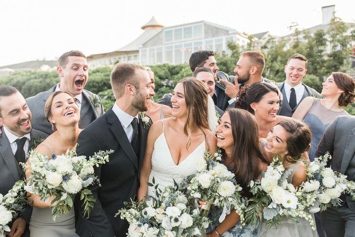 Classic Wedding Party at Wequassett Resort & Golf Club in Harwich, Massachusetts