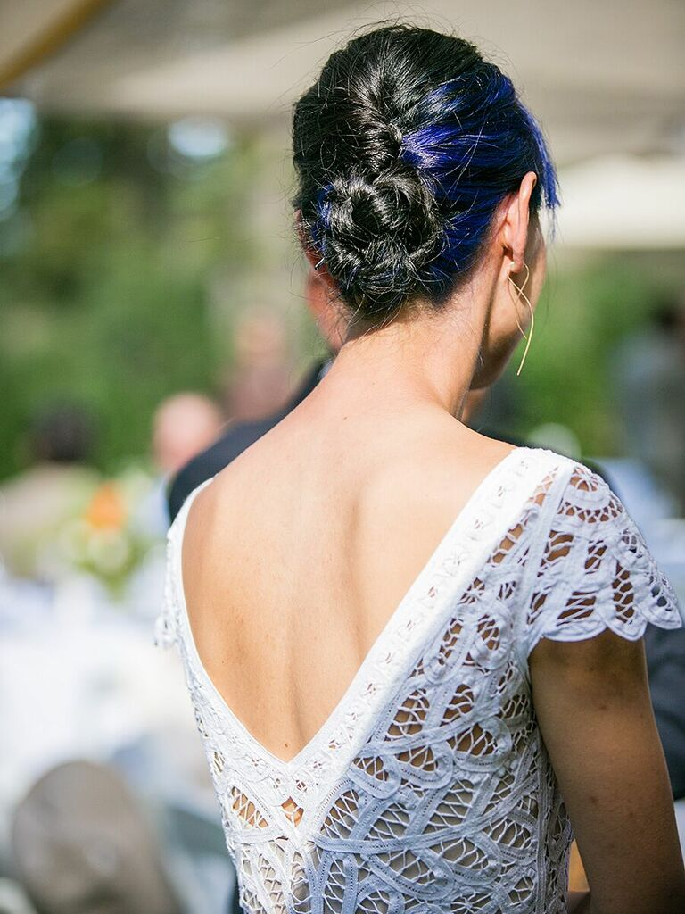 Wedding updo colored hair