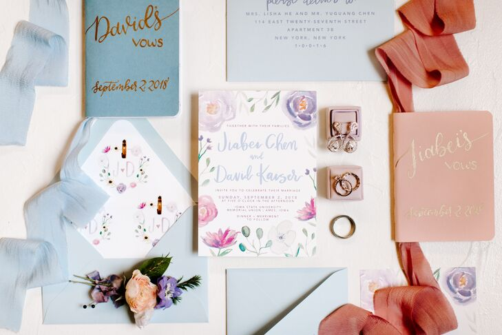 Whimsical Botanical Invitations with Watercolor Flowers