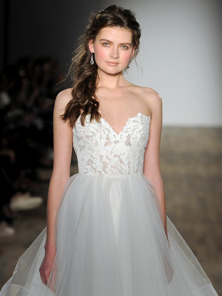 514db0f6d2bf0 Blush by Hayley Paige Spring 2018: Tulle and lace ball gown with sweetheart  neckline