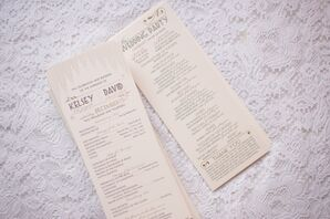 Ivory Custom Wedding Programs by Shortprinter