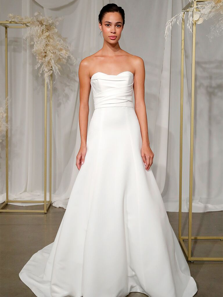 nouvelle amsale strapless gown
