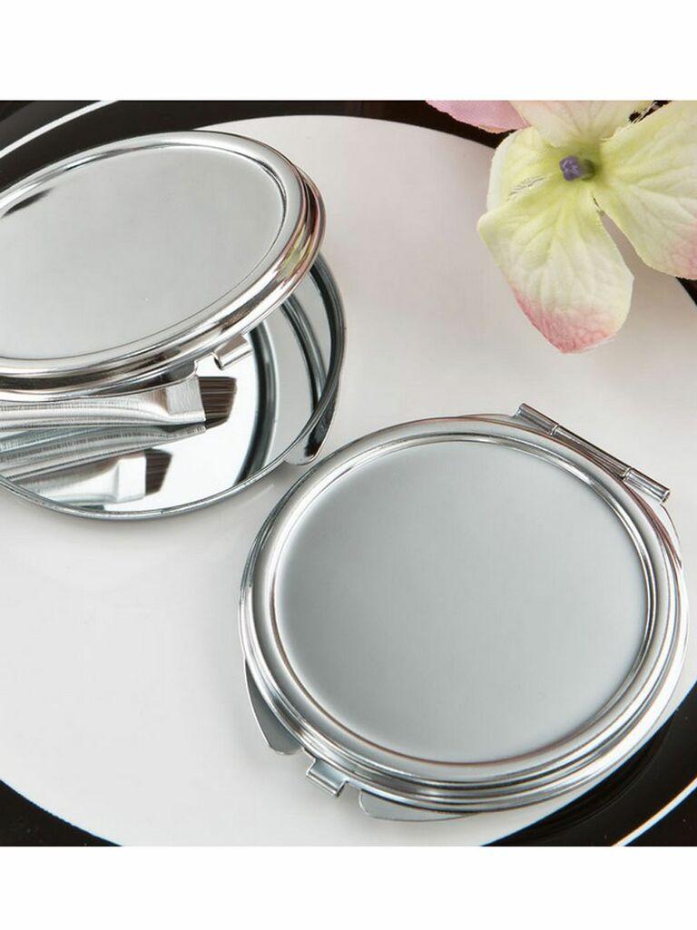 silver metal mirror