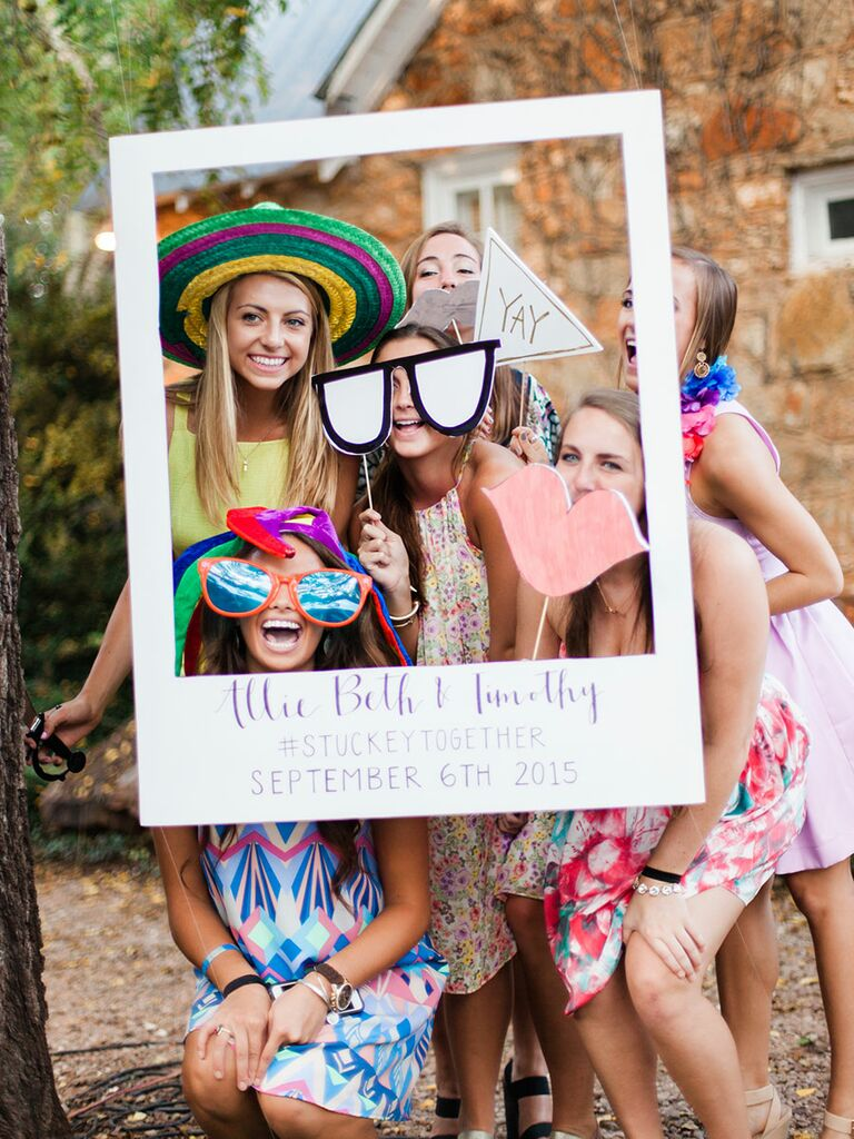 Interactive wedding photobooth and guest book ideas
