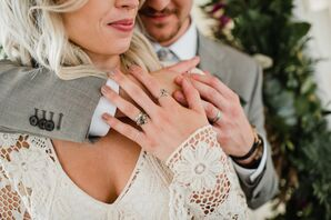 Silver Bohemian Wedding Rings