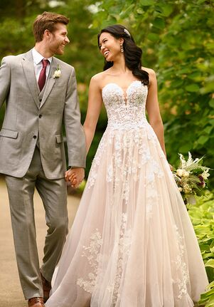 Essense of Australia D2848 A-Line Wedding Dress