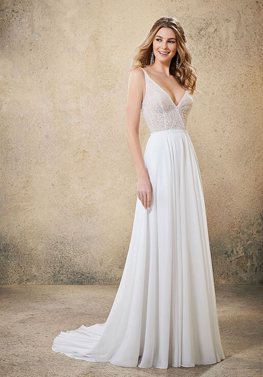 A Line Wedding Dress.Rio 6916