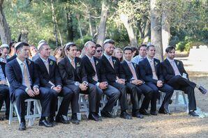 Groomsmen Sitting at the Ceremony