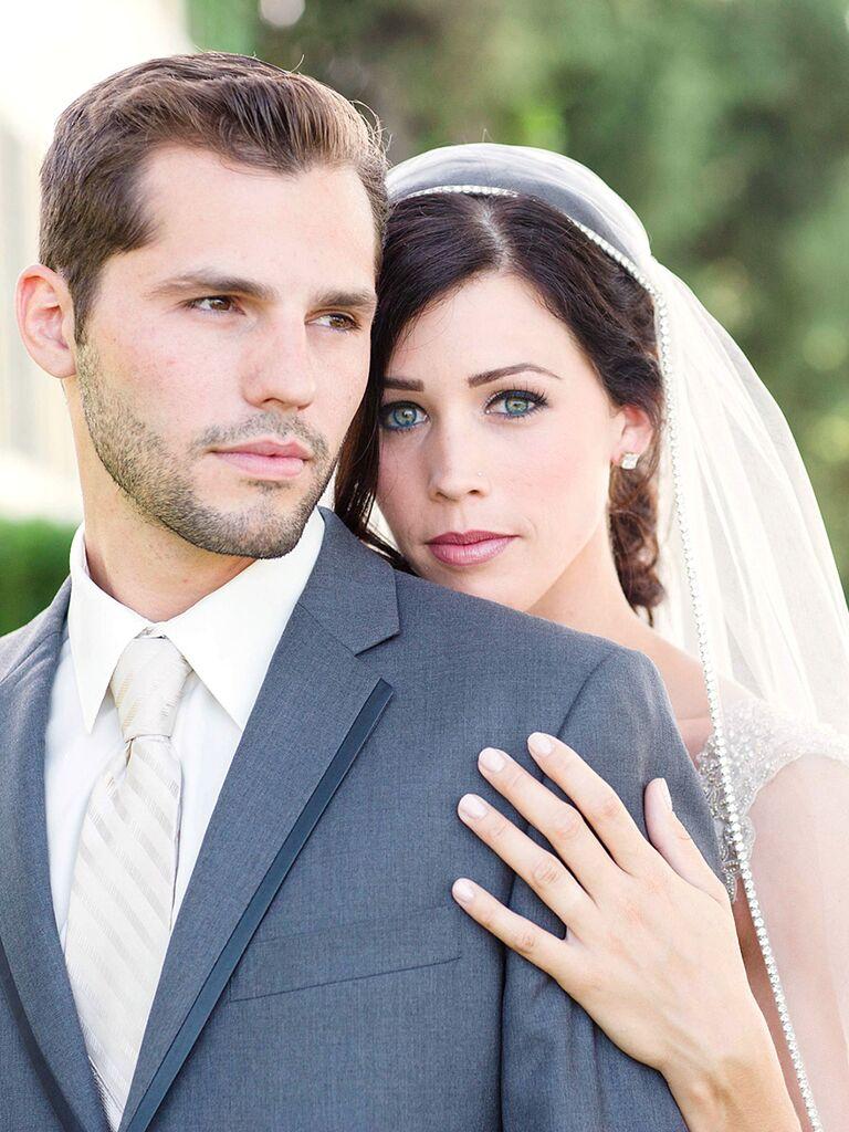 Romantic wedding makeup for brunettes