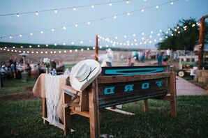 String Lights and DIY Reception Tables