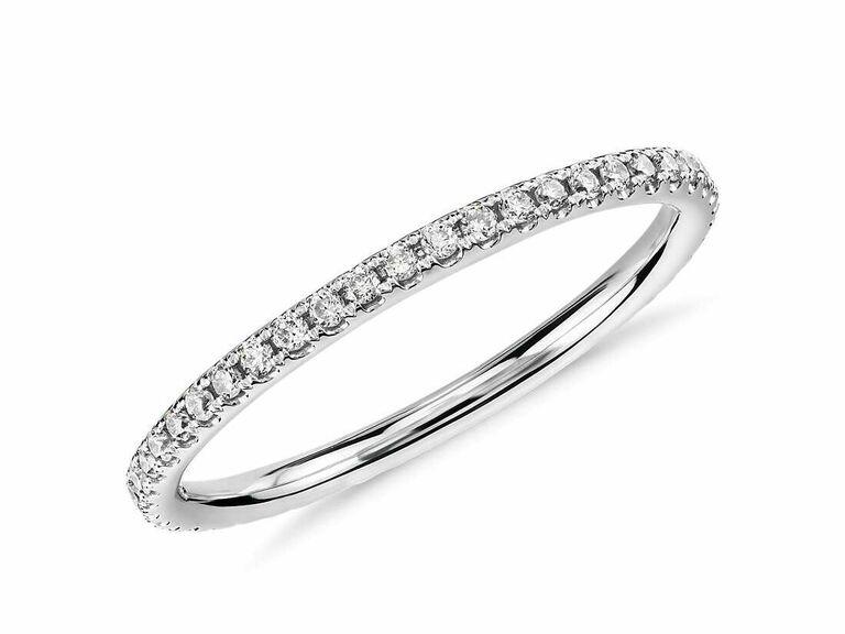 White gold eternity diamond ring 25th anniversary gift idea