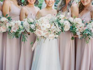 Subtle Bridesmaid Bouquets for California Wedding