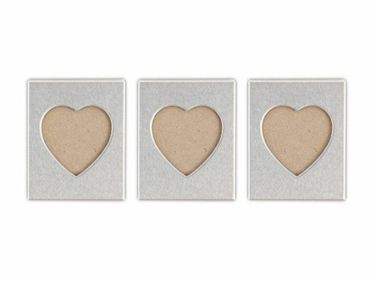 aluminum mini heart photo frames