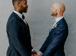 """When planning their modern celebration at Firehouse Chicago, BrandonGreenhouse and Dave Bauer focused on creating an overall feeling of intimacy. """"We"""