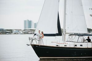 Couple Riding Boat in Orange Beach, Alabama