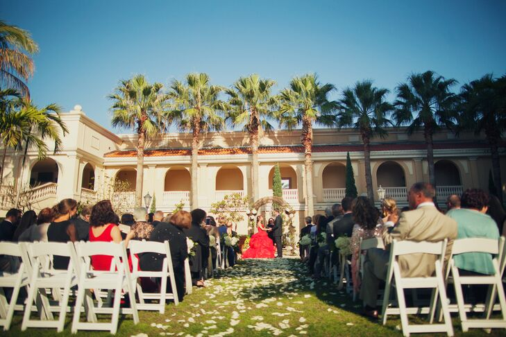 """After two years of planning, Amina and Brian said """"I do,"""" in front of 170 friends and family members."""