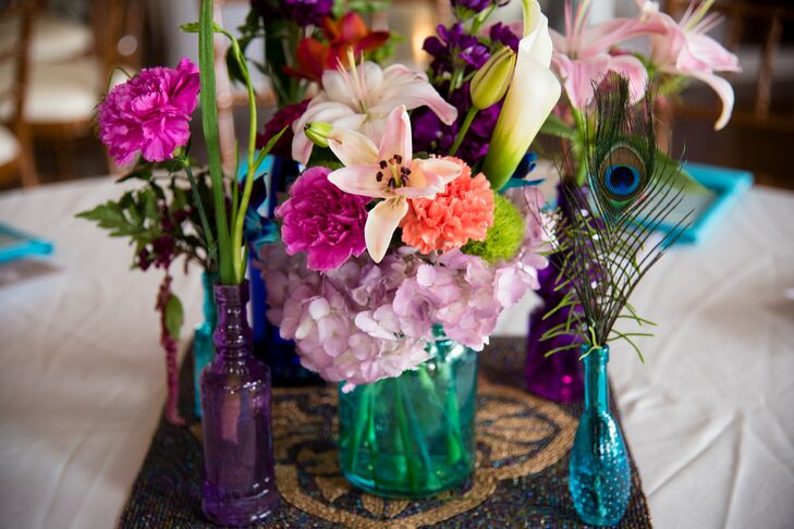 Lily and Hydrangea Centerpieces