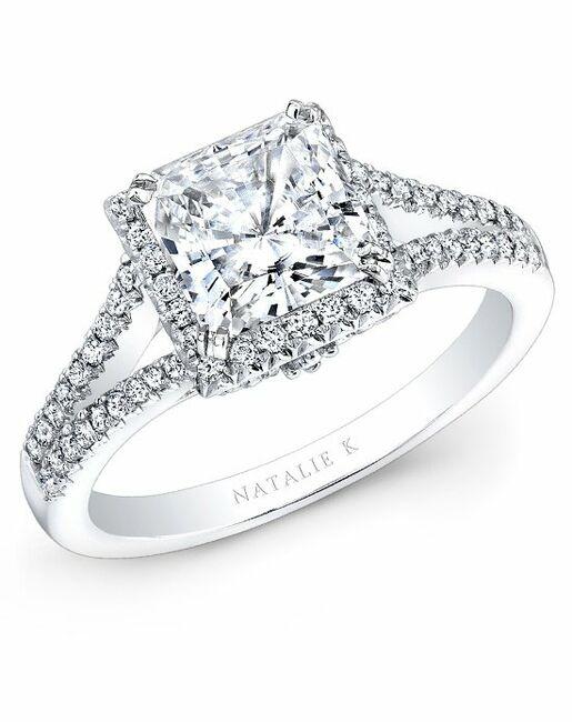 Natalie K Princess Cut Engagement Ring