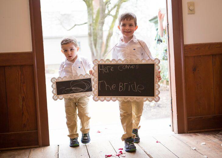 Chalkboard Ring Bearer Signs