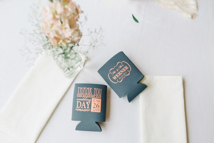 Custom Can Koozie Favors