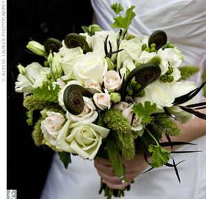 Green-and-White Wedding Bouquet