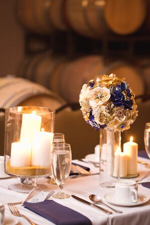 Different Arrangements of Candles and Brooch Bouquet