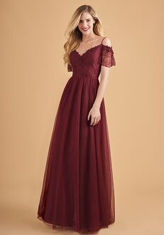 Belsoie Bridesmaids by Jasmine L204057 V-Neck Bridesmaid Dress