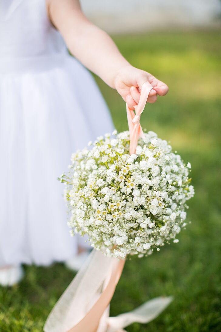 Baby's Breath Flower Girl Pomander