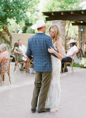 Casual, Rustic First Dance at The Gage Hotel in Marathon, Texas