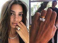Emily Ratajkowski engagement ring