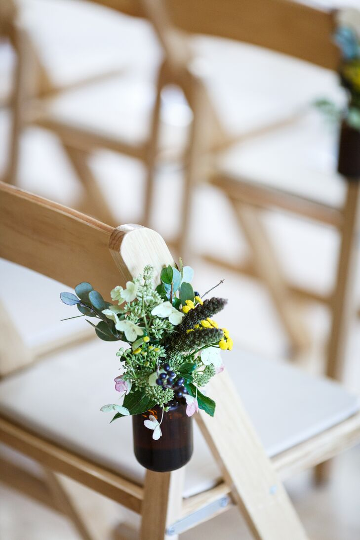 Simple Aisle Decoration of Colorful Wildflowers