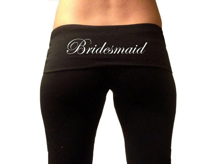Etsy bridesmaid yoga pants