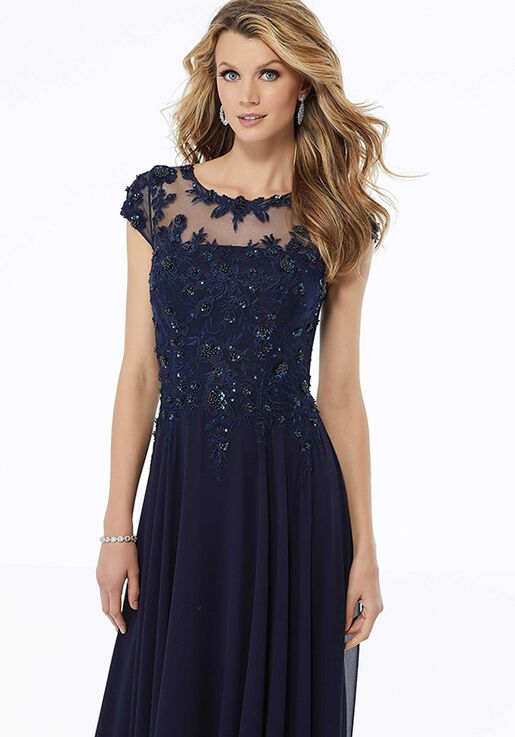 MGNY 72112 Blue Mother Of The Bride Dress