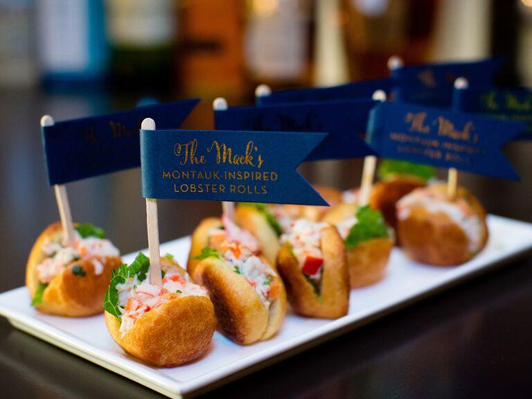 Mini lobster rolls wedding catering