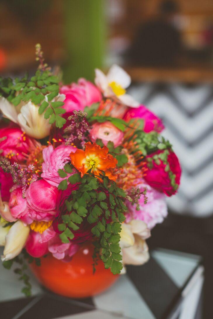 Bright, Colorful Modern Flower Arrangement