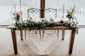 Bohemian Sweetheart Table with Macrame Runner