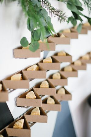 Modern Wall Installation with Dessert Display