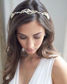 Dareth Colburn Athena Bridal Headband (TI-3358) Gold Headband