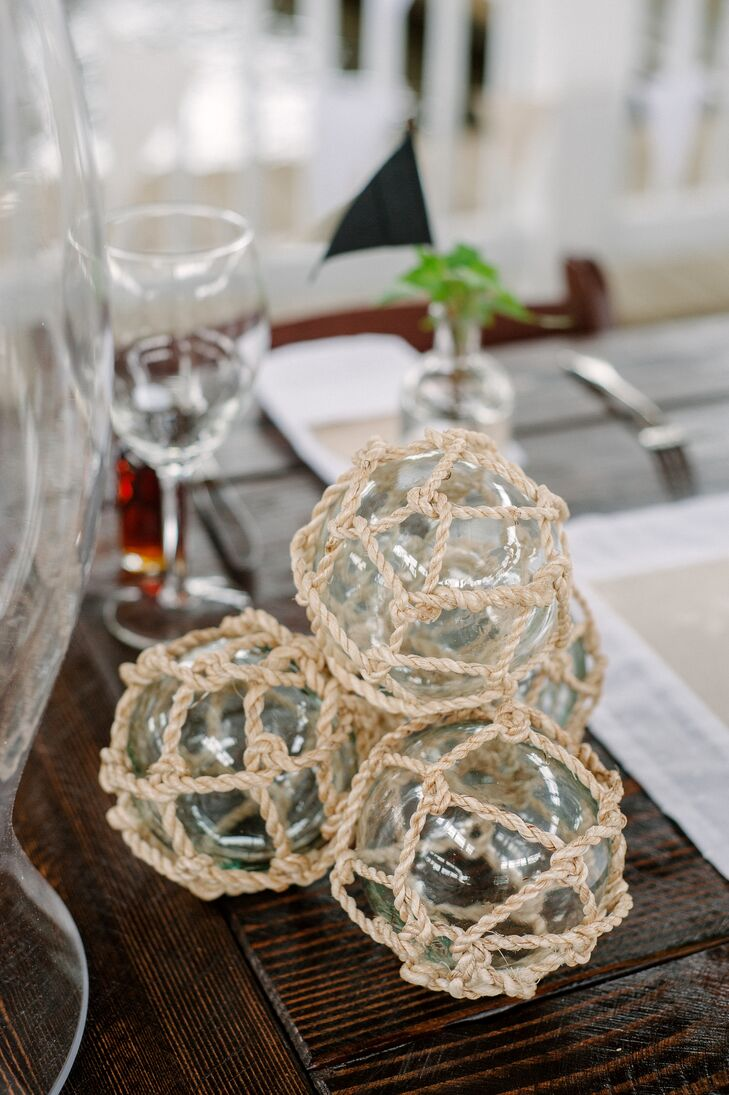 Nautical Rope Glass Orbs