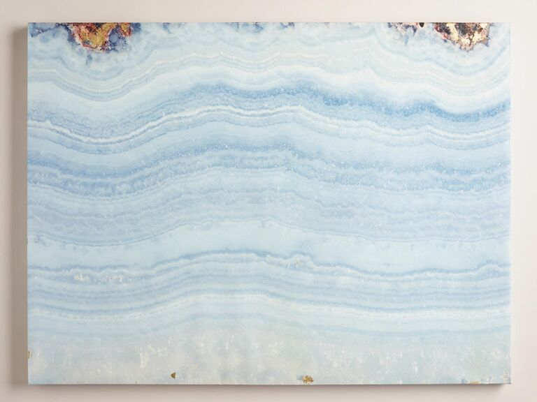 Blue agate wall art from World Market