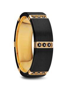 Mens Tungsten Wedding Bands W1281-BTGI Tungsten Wedding Ring