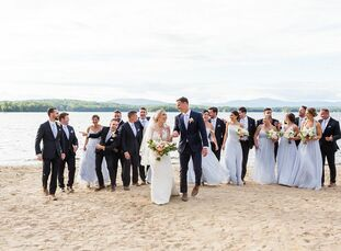 Katie Smits and Sean Slattery created an epic wedding weekend for all of their guests at Camp Robindel, a traditional New England girls' summer camp o
