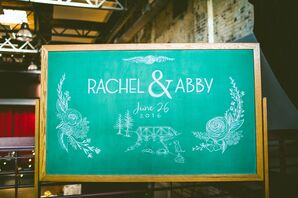 Bohemian Chalkboard Art Welcome Sign