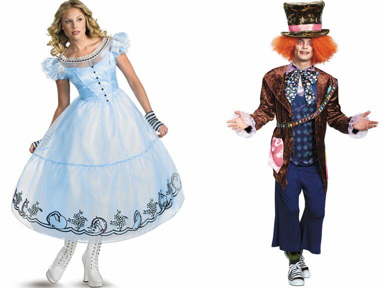 Disney couple costumes Alice in Wonderland