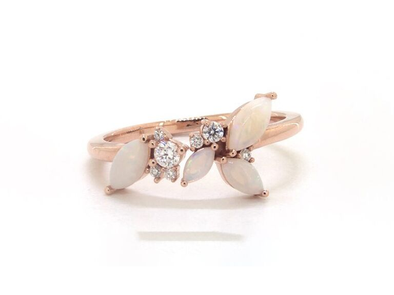 asymmetrical opal ring