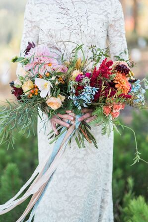 Bouquet with Ribbon Details