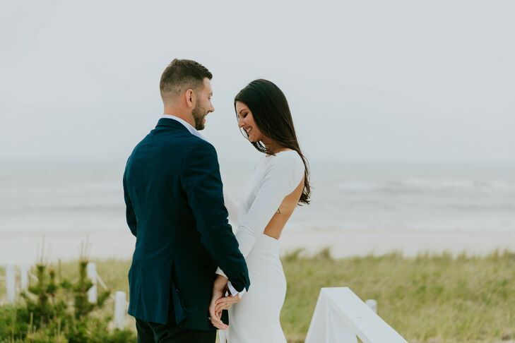 After their initial venue fell through three months before the wedding, Kate O'Donnell (27 and a merchandising and design operations manager) and Matt