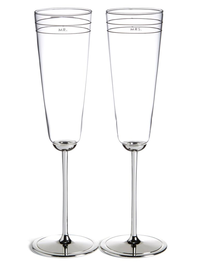 Crystal champagne flutes 15-year anniversary gift