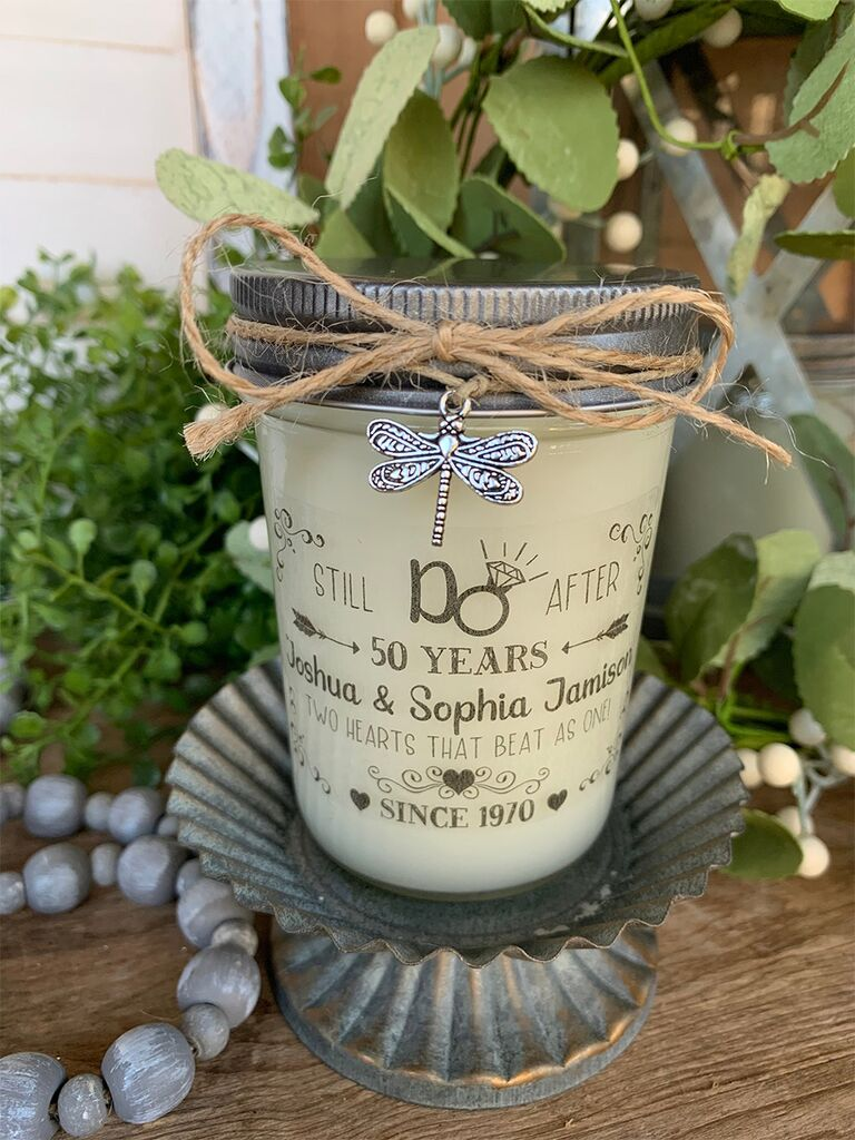 Fireflies & Candlelight 50th anniversary candle