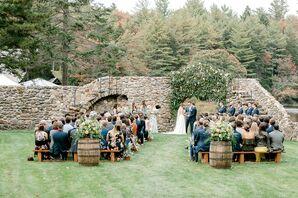 Romantic Mediterranean-Inspired Garden Ceremony at Lakefalls Lodge in Stoddard, New Hampshire